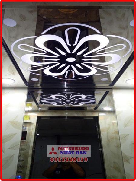 hoa văn trần cabin thang máy khách sạn