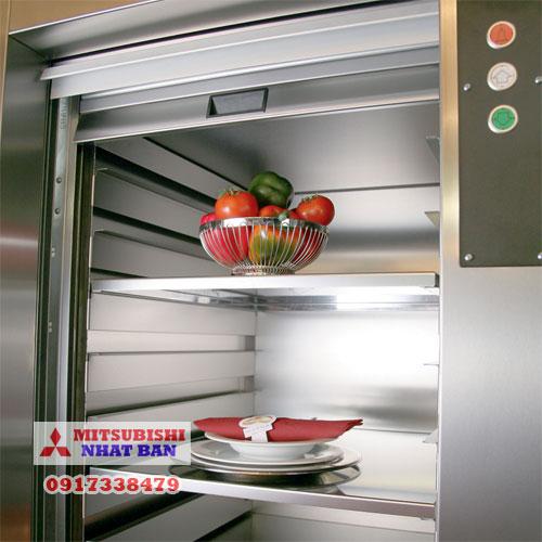 thang máy tải thức ăn