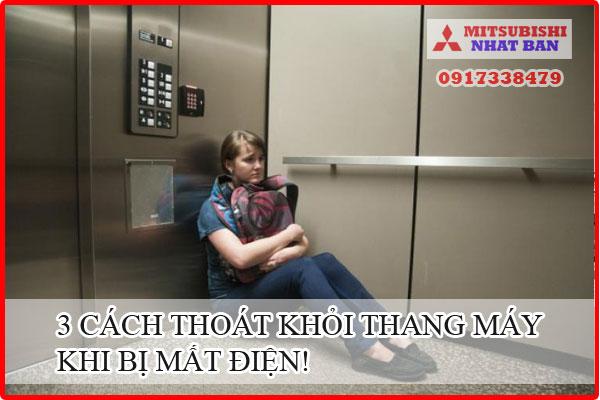 cách thoát khỏi thang máy khi mất điện