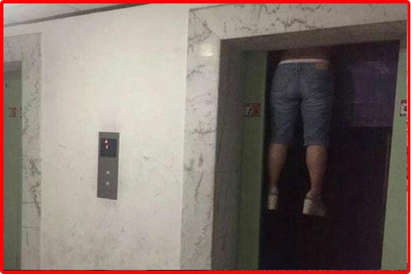 thang máy khi bị mất điện