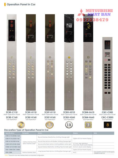 bảng điều khiển thang máy