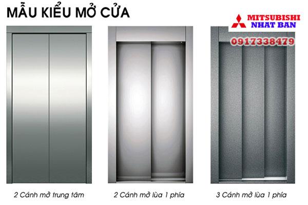 kiểu cửa mở thang máy mitsubishi liên doanh