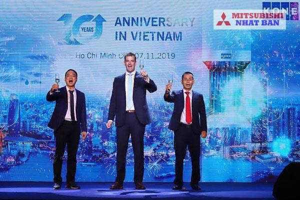 lễ kỷ niệm 20 năm thành lập công ty thang máy Kone tại Việt Nam