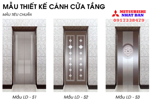 mẫu cửa cabin thang máy mitsubishi liên doanh