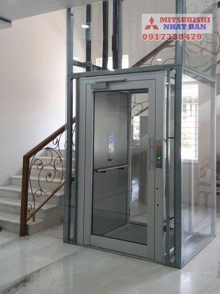 mẫu thang máy nhà sửa chữa cải tạo lại