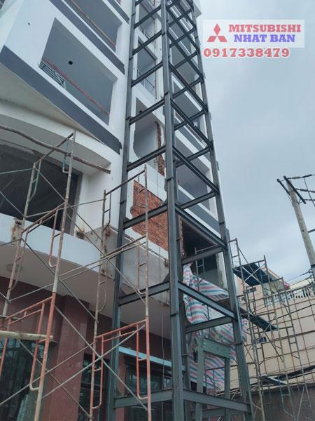 phương án thi công khung thép thang máy