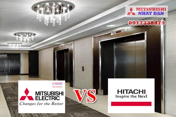 so sánh thang máy Mitsubishi và thang máy Hitachi