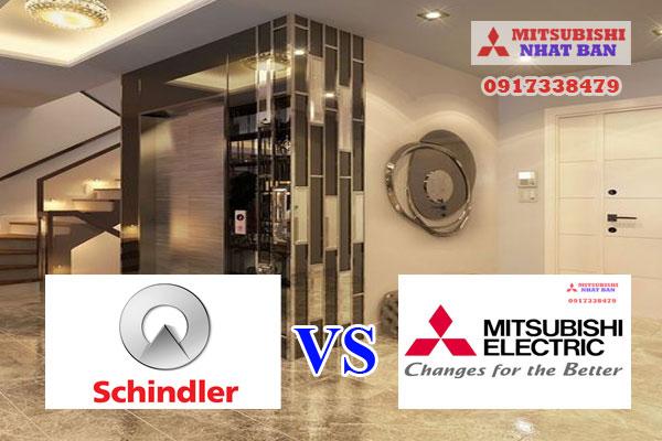 so sánh thang máy Mitsubishi và thang máy Schindler