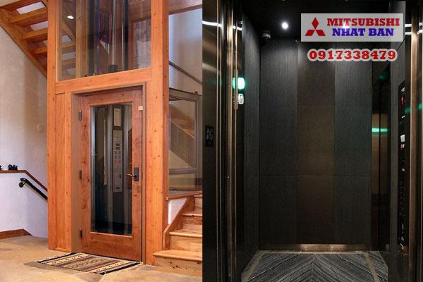 thiết kế nội thất thang máy 550kg