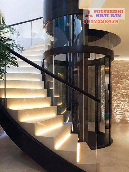 thiết kế thang máy 350kg