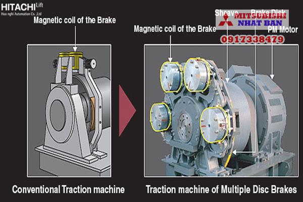 tính năng an toàn thang máy Hitachi