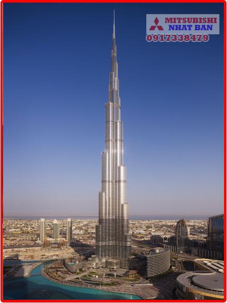 tốc độ thang máy tòa nhà Buri khalifa