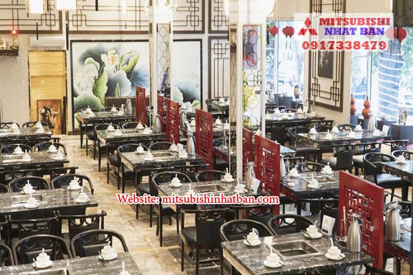 khu vực ăn uống trong nhà hàng