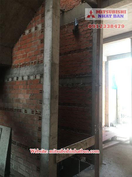 khung bê tông tường gạch