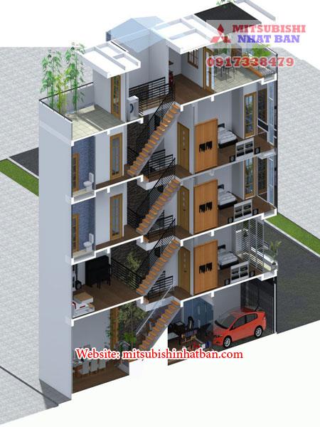 lắp thang máy cho nhà lệch tầng