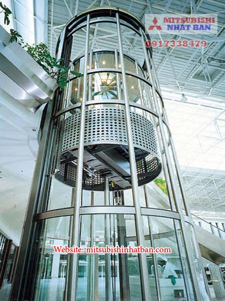 Mẫu 4 thang máy lồng kính tròn