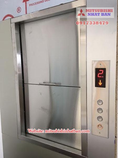 cửa thang máy tải thức ăn