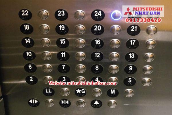 Mẫu nút bấm thang máy tròn 1